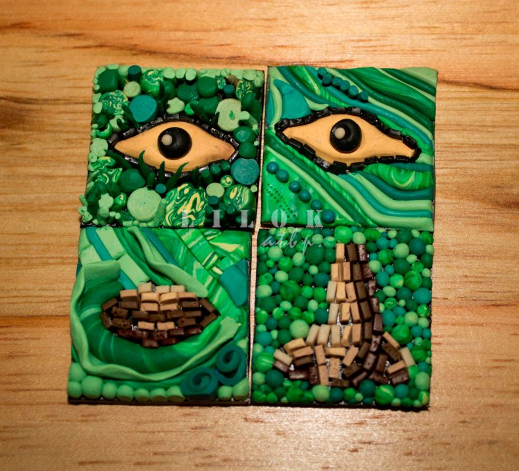 "Four (4) ""inchies"" (1""x1') tile creation (August 2014)"